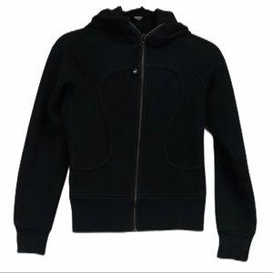 Lululemon size 2 black white scuba hoodie